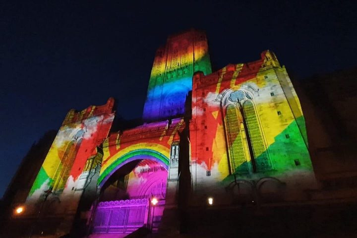 Projection mapping on Liverpool's Anglican Cathedral